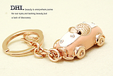 viennois Wei Ni Hua authentic Korean women large crystal cat metal keychain car search 2015