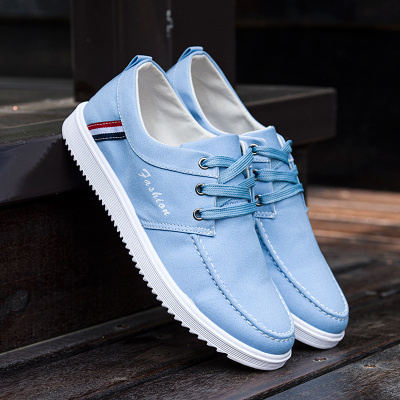 春夏季新款低帮男士帆布鞋韩版潮流透气凉鞋休闲板鞋老北京布鞋