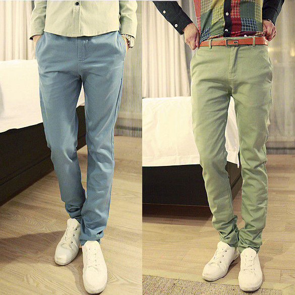 Повседневные брюки Ybyb Облегающий покрой Хлопок без добавок Осень