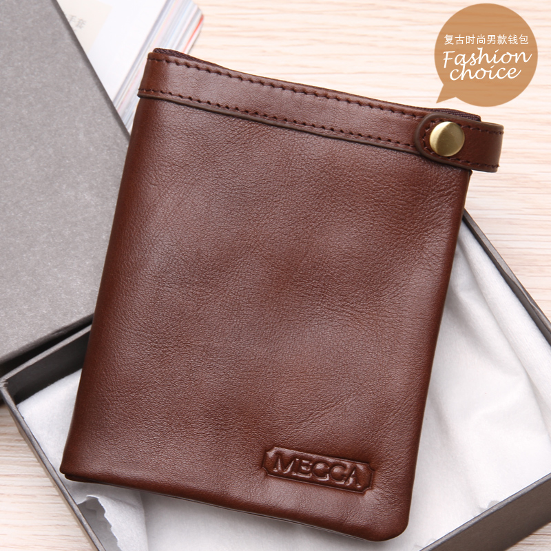 Бумажник MEGGA mg2521 Короткие бумажник Для молодых мужчин Кожа быка