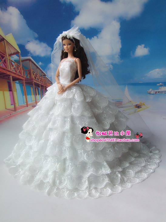 Как сшить свадебное платье для барби куклы
