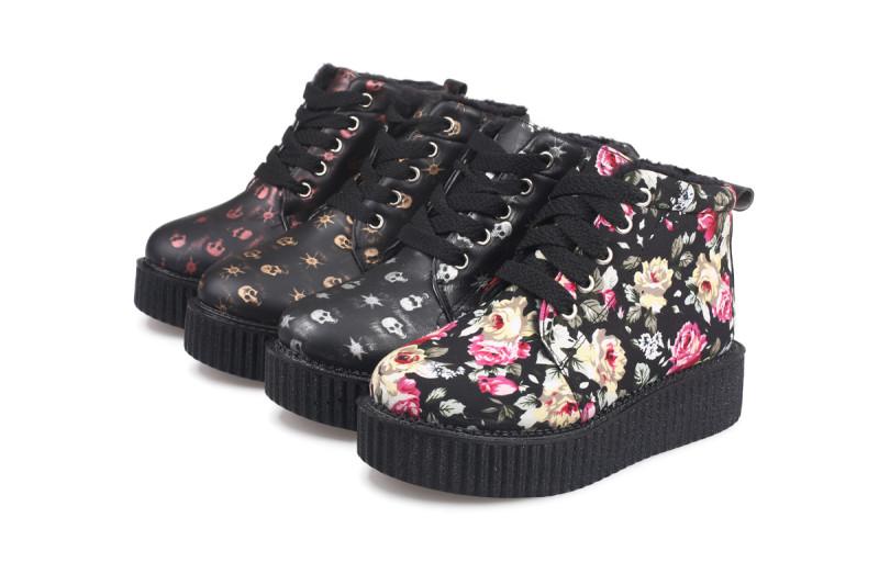 туфли Кожа с принтами Комбинированный материал