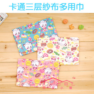 Baby cartoon more than three layers of gauze scarf hold a new cabin carpet long towels beach towel WS021