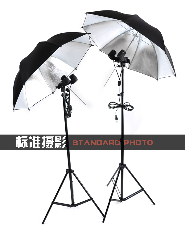 Другие Фотографическое оборудование Одежда съемки фотографии свет набор лампой отражательная зонтик + стенд + специальные лампы 3