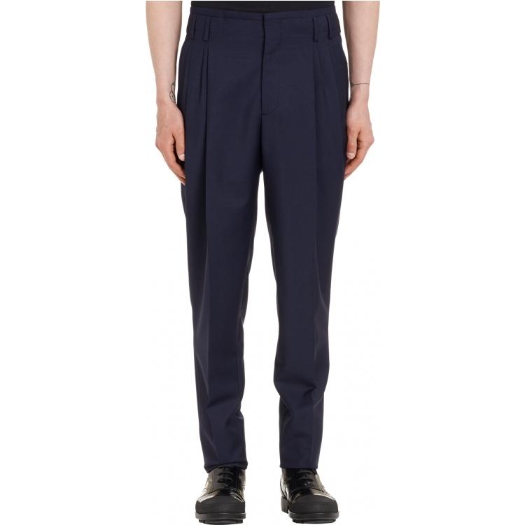 Классические брюки Balenciaga q01314345 NAVY