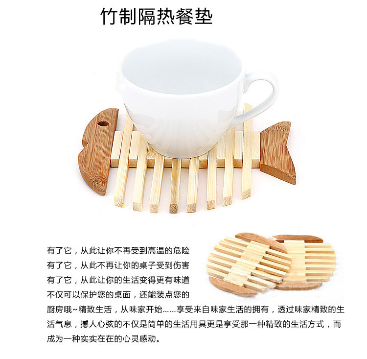 Exquisite bamboo mat insulation mat bowls mat doily mat anti-scalding Creative Tableware Placemats potholders