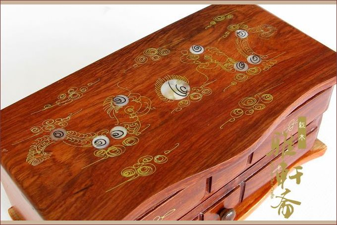 Yeaser V Flexor jewelry boxes in century-old Viet Nam rosewood crafts ebony chicken wing wooden jewelry box